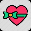 gift, heart, present, valentine day