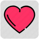 favorite, heart, like, love, valentine day icon