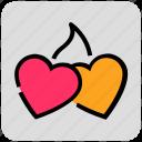 couple, heart, love, valentine day, wedding icon