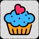 cake, heart, sweet, valentine day