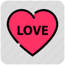 heart, love, romance, valentine day icon