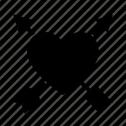 arrows, cupid, heart, love, romantic icon