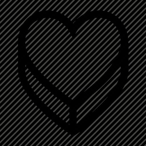 box, gift, heart, love, present icon