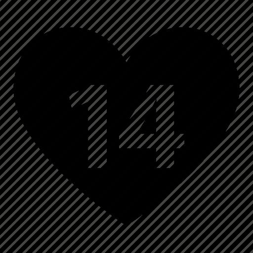 day, heart, love, romantic, valentine icon