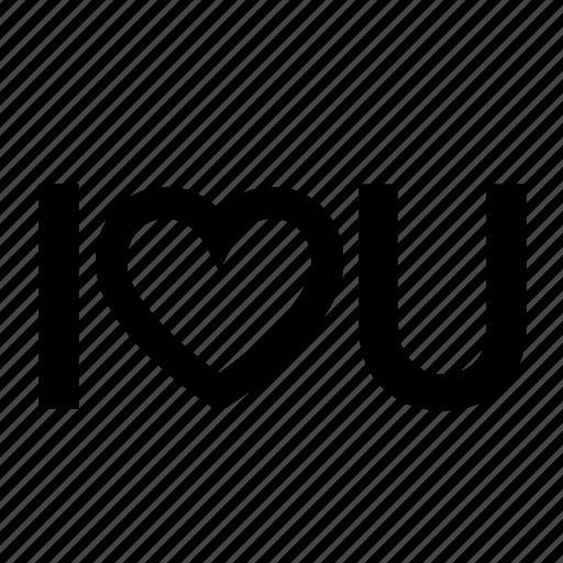 heart, iloveyou, romantic icon