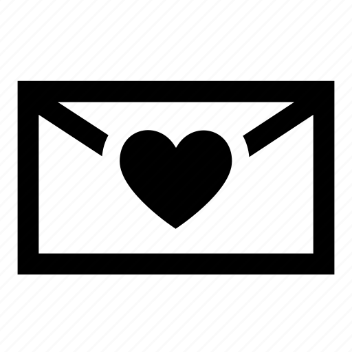 email, heart, love, mail, message, romantic icon