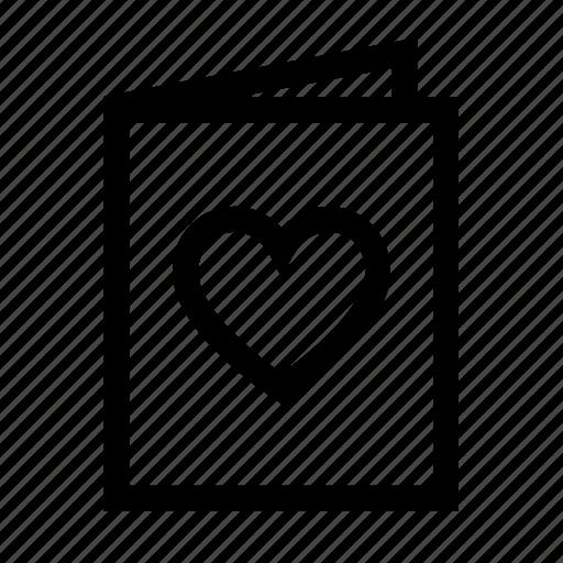 card, day, heart, love, romantic, valentine icon