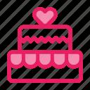 cake, romance, valentine icon, wedding icon