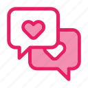 chat, love, romance, talk, valentine icon icon