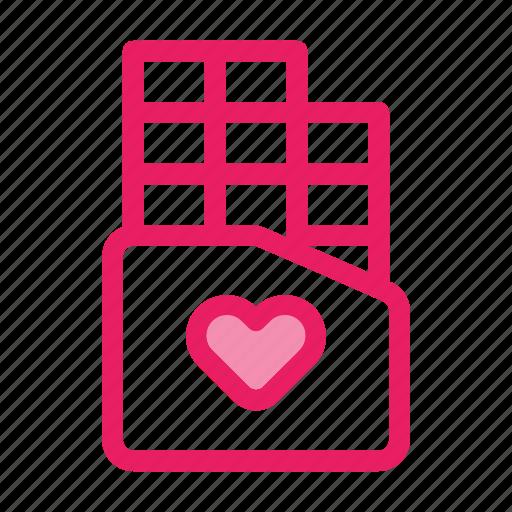 chocolate, gift, love, romance, valentine icon icon