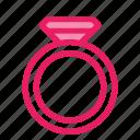 diamond, love, propose, ring, romance, valentine icon