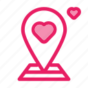 location, love, pin, romance, valentine, wedding icon