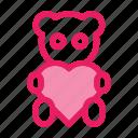 bear, gift, love, romance, teddy, valentine icon icon