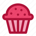 cupcake, muffin, snack, sweet, valentine icon