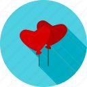 balloon, balloons, celebration, celebratory, decoration, heart balloon, valentine icon