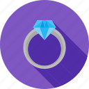 crystal, diamond, gemstone, gift, gold, jewelry, ring icon