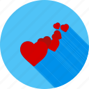 hearts, like, love, romance, romantic, valentine, valentine gift icon