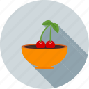 cherries, cherry, delicious, dessert, fruit, sweet icon