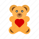 bear, childhood, love, teddy, toy, valentine, valentines gift icon