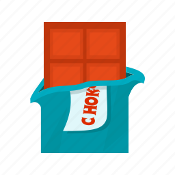 bar, box, chocolate, chocolate bar, sweet, valentines icon