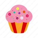 birthday, cake, celebration, cupcake, gift, party, sweet icon