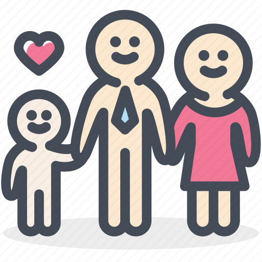 baby, family, family members, happy, heart, love, valentine icon