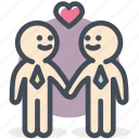 bisexual, gay, love, male love, relationship, valentine icon