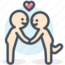 lover, puppy love, relationship, resource, romantic, valentine icon