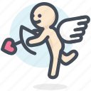 arrow, cupid, engagement, love, mariage, valentine, wedding icon