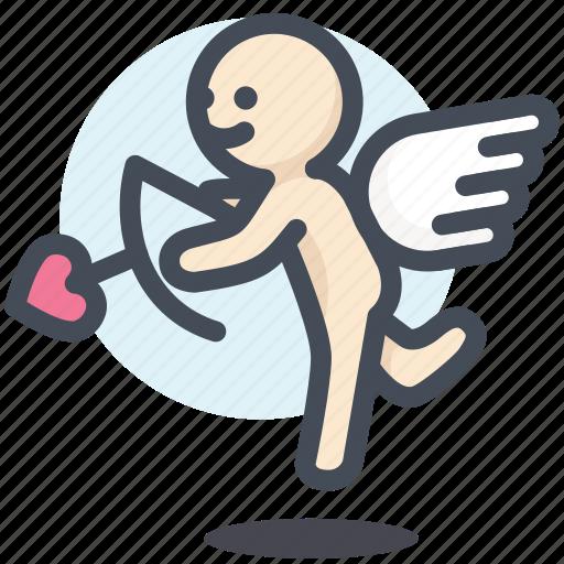 arrow, cupid, engagement, love, mariage, valentine, wedding icon