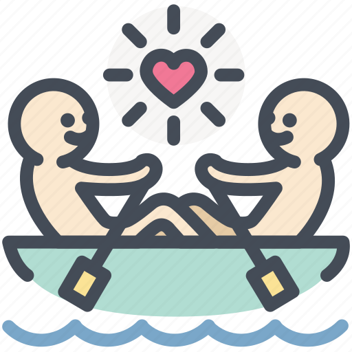 Boat, canoe, love, paddle, romantic, rowing, valentine icon - Download on Iconfinder