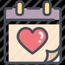 calendar, day, heart, love, valentine, valentine's day