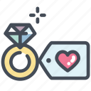 diamond, heart, love, marry, ring, valentine, wedding ring icon