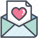 heart, love, valentine, letter, mail, message, email