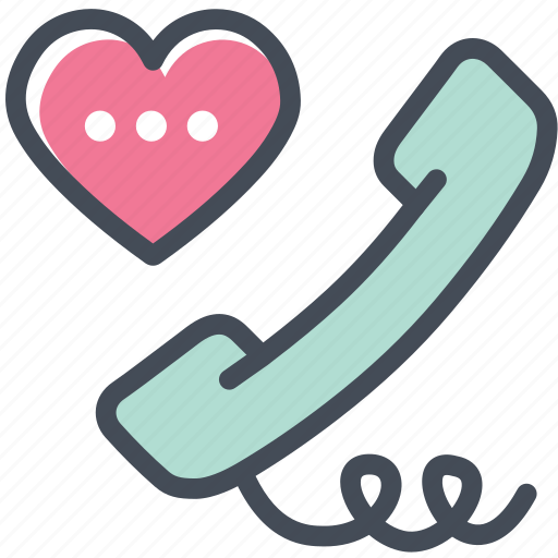 call, day, love, message, phone, tell, valentine icon