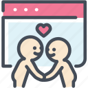 dating sites, find, heart, love, relationship, valentine, website icon