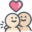 friend, heart, hug, love, lover, relationship, valentine icon