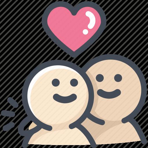 friend, heart, hug, love, lover, relationship, valentine icon