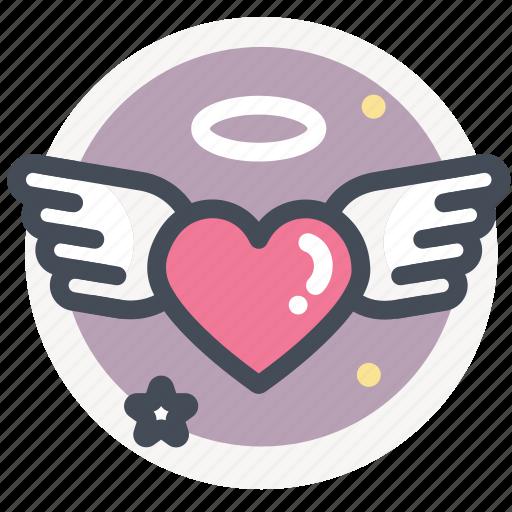 dating, heart, love, valentine, wedding, wing icon