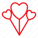 ballon, love, romance, valentine