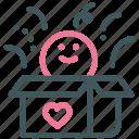 heart, love, present box, gift box, valentine, human, box surprise