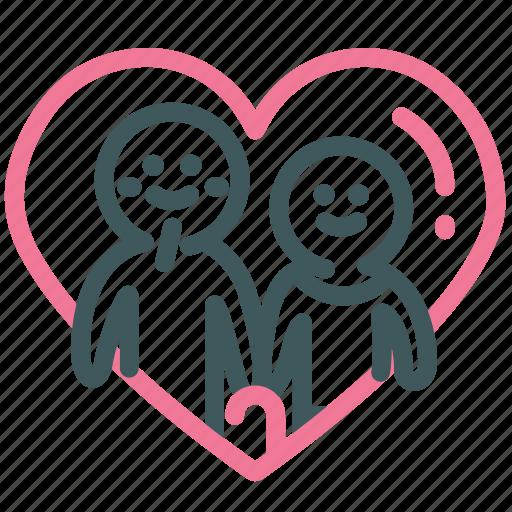 Heart, love, relationship, valentine, lover, soulmate, forever love icon