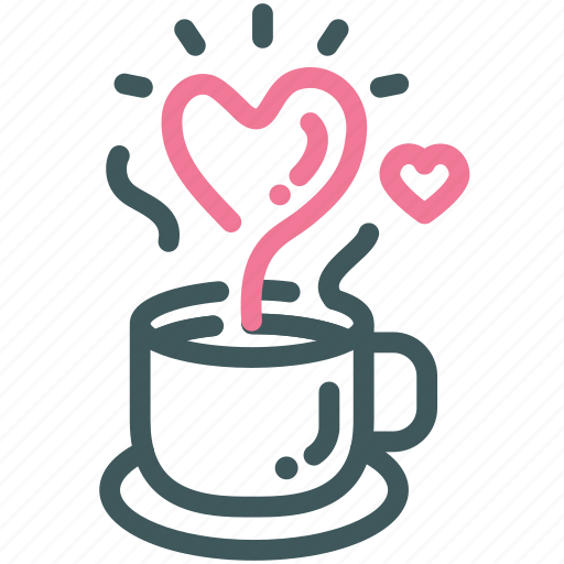 Drink Heart Hot Love Romantic Valentine Icon