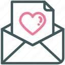 email, heart, letter, love, mail, message, valentine icon