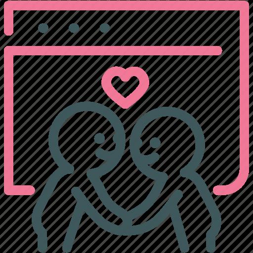 dating sites, find, heart, love, relationship, valentine, website icon
