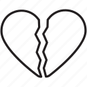 break, broken, celebrate, heart, hurt, valentine's icon