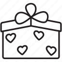 box, celebrate, gift, heart, valentine's, wrapping icon