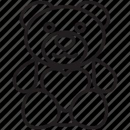 bear, gift, heart, love, present, teddy, valentine's icon