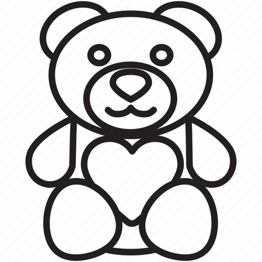 bear, gift, heart, love, present, teddy, valentine's icon