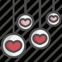 ball, bubble, decorate, decoration, heart, love, valentine